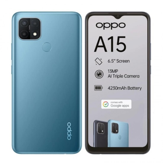 OPPO A15 Mystery Blue